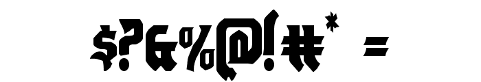 Empire Crown Condensed Font OTHER CHARS