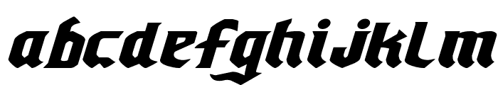 Empire Crown Expanded Italic Font LOWERCASE