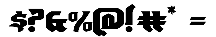Empire Crown Expanded Font OTHER CHARS