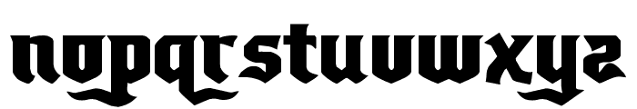 Empire Crown Expanded Font LOWERCASE