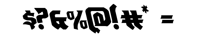 Empire Crown Leftalic Font OTHER CHARS