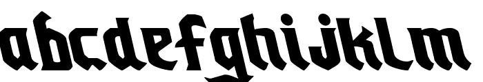 Empire Crown Leftalic Font LOWERCASE