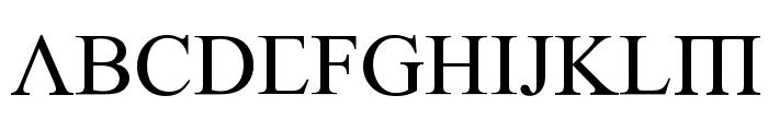 Empiric Roman Font UPPERCASE