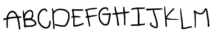 emmahandwriting Font UPPERCASE