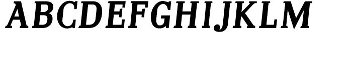 Embossanova Bold Italic Font UPPERCASE