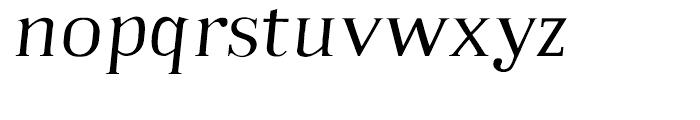 Embossanova Light Italic Font LOWERCASE