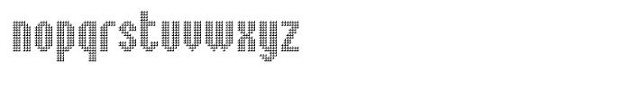 Embossed Medium Font LOWERCASE