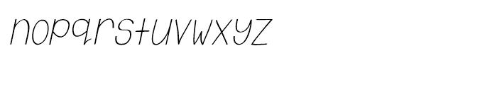 Emmy Italic Font LOWERCASE