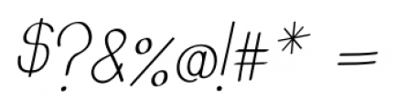 Emmy Italic Font OTHER CHARS