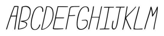 Emmy Italic Font UPPERCASE