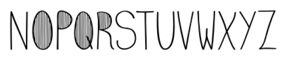 Emmy  Stripes Font UPPERCASE