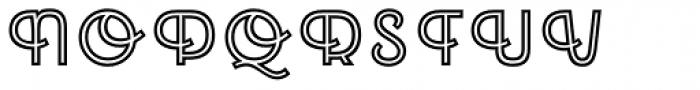 Emblema Inline1 Extraswash Font UPPERCASE