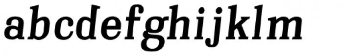 Embossanova Bold Italic Font LOWERCASE