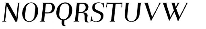 Embossanova Light Italic Font UPPERCASE