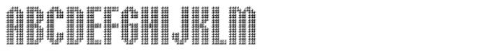 Embossed Medium Font UPPERCASE