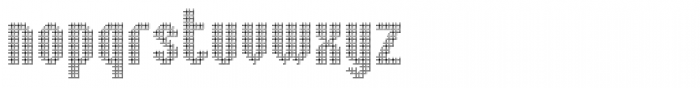 Embossed Shallow Font LOWERCASE