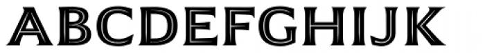 Emeritus Inline Caps Semibold Font LOWERCASE