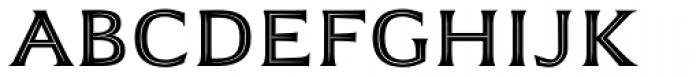 Emeritus Inline Caps Font UPPERCASE