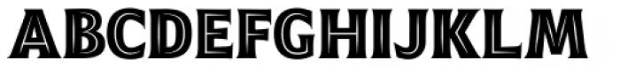 Emeritus Narrow Inline Caps Bold Font LOWERCASE
