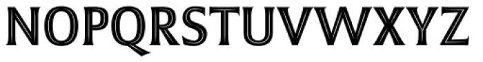 Emeritus Narrow Inline Caps Font UPPERCASE