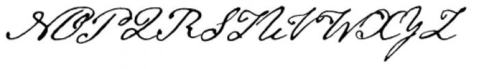 Emily Austin Font UPPERCASE