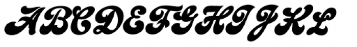 Emiral Script Bold Font UPPERCASE