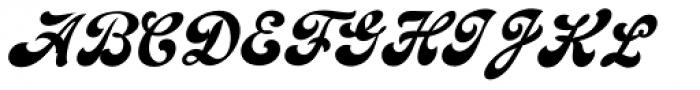 Emiral Script Font UPPERCASE