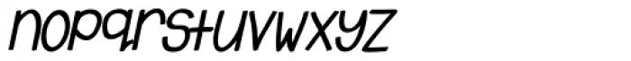 Emmy Bold Italic Font LOWERCASE