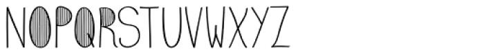 Emmy Stripe Font UPPERCASE