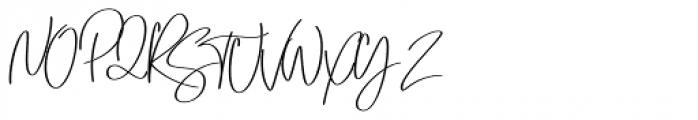 Emmylou Signature Bold Font UPPERCASE