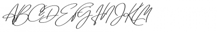 Emmylou Signature Demi Bold Extra Sl Font UPPERCASE