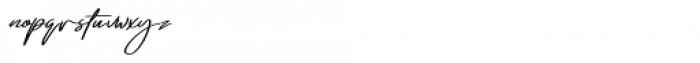 Emmylou Signature Demi Bold Extra Sl Font LOWERCASE