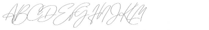 Emmylou Signature Extra Light Extra Sl Font UPPERCASE