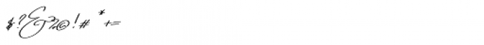 Emmylou Signature Medium Extra Sl Font OTHER CHARS