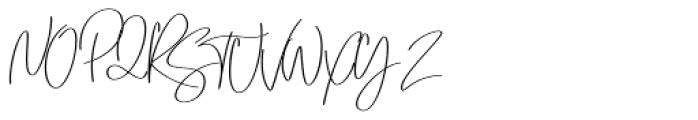 Emmylou Signature Medium Font UPPERCASE