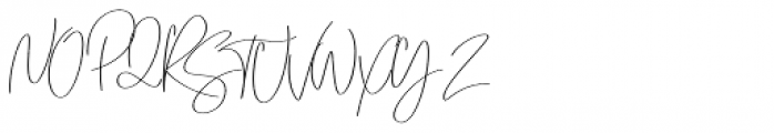 Emmylou Signature Normal Font UPPERCASE