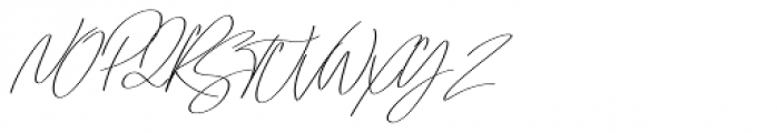 Emmylou Signature Regular Extra Sl Font UPPERCASE