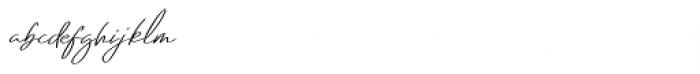 Emmylou Signature Regular Extra Sl Font LOWERCASE