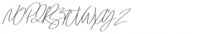 Emmylou Signature Regular Sl Font UPPERCASE