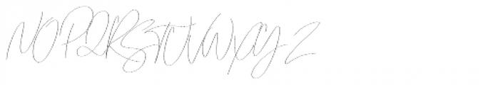 Emmylou Signature Thin Sl Font UPPERCASE