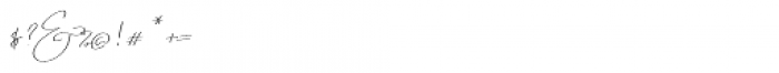 Emmylou Signature Ultra Light Sl Font OTHER CHARS