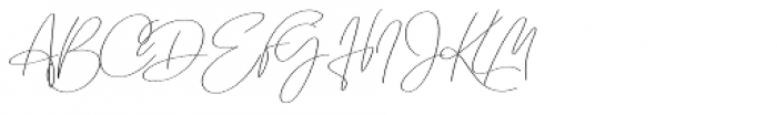 Emmylou Signature Ultra Light Sl Font UPPERCASE