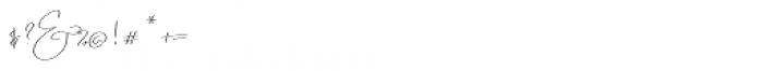 Emmylou Signature Ultra Light Font OTHER CHARS