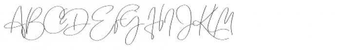 Emmylou Signature Ultra Light Font UPPERCASE