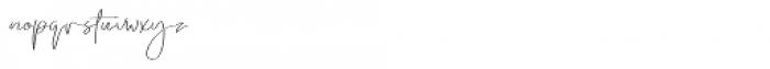 Emmylou Signature Ultra Light Font LOWERCASE