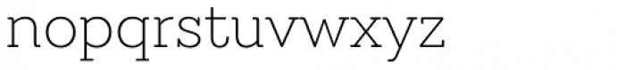 Emy Slab Alt Ultra Light Font LOWERCASE