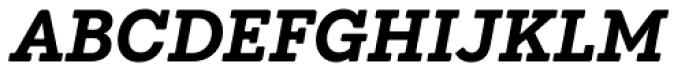 Emy Slab Bold Italic Font UPPERCASE