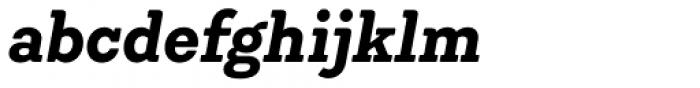 Emy Slab Bold Italic Font LOWERCASE