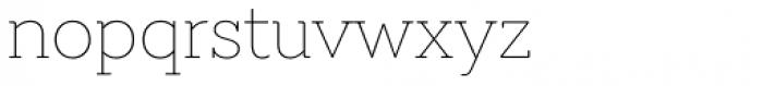 Emy Slab Thin Font LOWERCASE