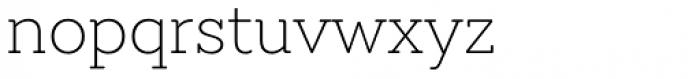 Emy Slab Ultra Light Font LOWERCASE